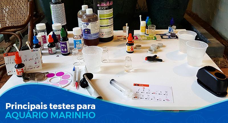 Principais testes para aquário marinho